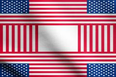 Patriotic USA design in style of the American flag with fabric texture Stock Illustration
