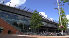 Bijlmer Station exterior Real time, Amsterdam, the Netherlands 14 July 20 Stock Footage