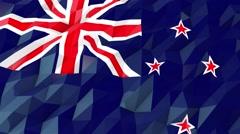 Flag of New Zealand 3D Wallpaper Illustration Stock Footage
