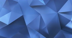 3d blue abstract geometric polygon surface motion background loop 4k Stock Footage