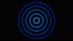 loading screen circular, blue on black background - 4k 30fps loop - video tex - stock footage