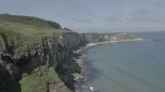 Ireland Cliffside, beautiful cliffside of Ireland sea and cliffside Stock Footage