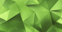 3d green abstract geometric polygon surface motion background loop 4k - stock footage