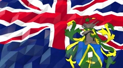 Flag of Pitcairn 3D Wallpaper Illustration Stock Footage