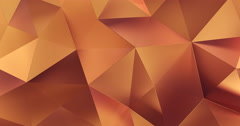 3d orange abstract geometric polygon surface motion background loop 4k Stock Footage
