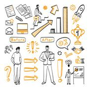 Character before and after personal development Stock Illustration