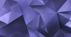 3d violet abstract geometric polygon surface motion background loop 4k Stock Footage