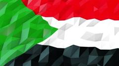 Flag of Sudan 3D Wallpaper Illustration Stock Footage