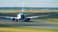 SunExpress Boeing 737 taxiing Stock Footage