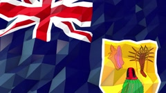 Flag of Turks and Caicos Islands 3D Wallpaper Illustration Stock Footage