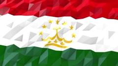 Flag of Tajikistan 3D Wallpaper Illustration Stock Footage