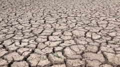 Motion of dry soil arid. drought land textured backgrounds Stock Footage