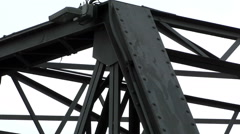 Iron Bridge Structure, Chiang Mai Thailand Stock Footage