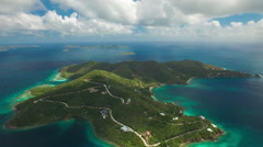 Aerial view from east end, St John Stock Footage