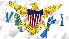 Flag of Virgin Islands, U.S. 3D Wallpaper Illustration Stock Footage