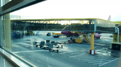 Airport in Malmo Sweden  Stock Footage