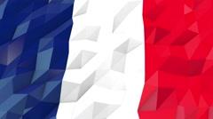 Flag of Wallis and Futuna 3D Wallpaper Illustration Stock Footage
