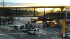 Airport in Malmo  Stock Footage