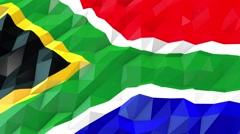 Flag of South Africa 3D Wallpaper Illustration Stock Footage