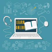 Learn online Stock Illustration