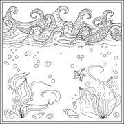 Sea star in the ocean Piirros