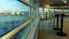 Empty Airport Malmo Sweden  Stock Footage