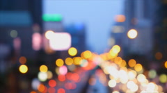 De focus of traffic light from high view Stock Footage