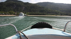 Shot of vietnamese islands from boat Stock Footage