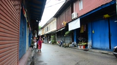 Old Town Chanthaboon in Chanthaburi, Thailand Stock Footage