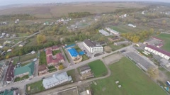 Landscape outskirts of the town. drone view. Stock Footage