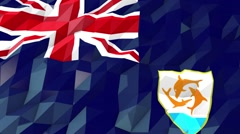 Flag of Anguilla 3D Wallpaper Illustration Stock Footage
