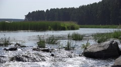 River Pyshma on Ural Stock Footage