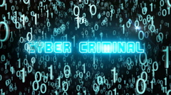 Bluish Cyber Criminal concept with digital code Arkistovideo