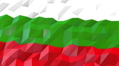 Flag of Bulgaria 3D Wallpaper Illustration Stock Footage
