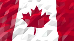 Flag of Canada 3D Wallpaper Illustration Stock Footage