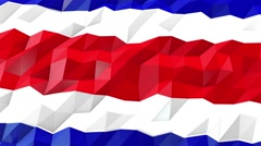 Flag of Costa Rica 3D Wallpaper Illustration Stock Footage