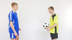 Soccer Players Flipping a Ball Stock Footage