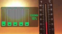 4K Extreme High Electricity Consumption during Summer Stock Footage