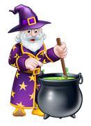 Cartoon Halloween Wizard Piirros