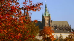 Saint Vitus Cathedral in the Autumn Stock Footage