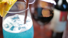 Fruit punch Cocktail Red wine Stock Footage