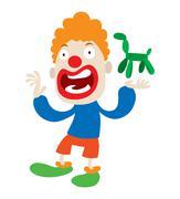 Clown character vector cartoon Stock Illustration