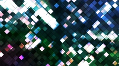 Broadcast Twinkling Squared Diamonds, Multi Color, Abstract, Loopable, 4K Stock Footage