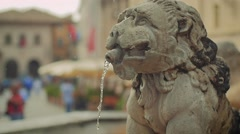 Historic fountain in Assisi, Italy Stock Footage