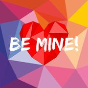Be mine valentines vector card with heart Stock Illustration