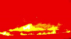 Blood-Orange Flames Dancing in the Dark Closeup Stock Footage