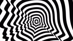 Donald Trump left profile - optical, visual illusion. Stock Footage