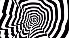 Abraham Lincoln left profile - optical, visual illusion. Stock Footage