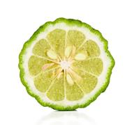 Half of Bergamot isolated on the white Stock Photos