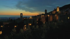 Assisi, Umbrian city which was the birthplace of St. Francis Stock Footage